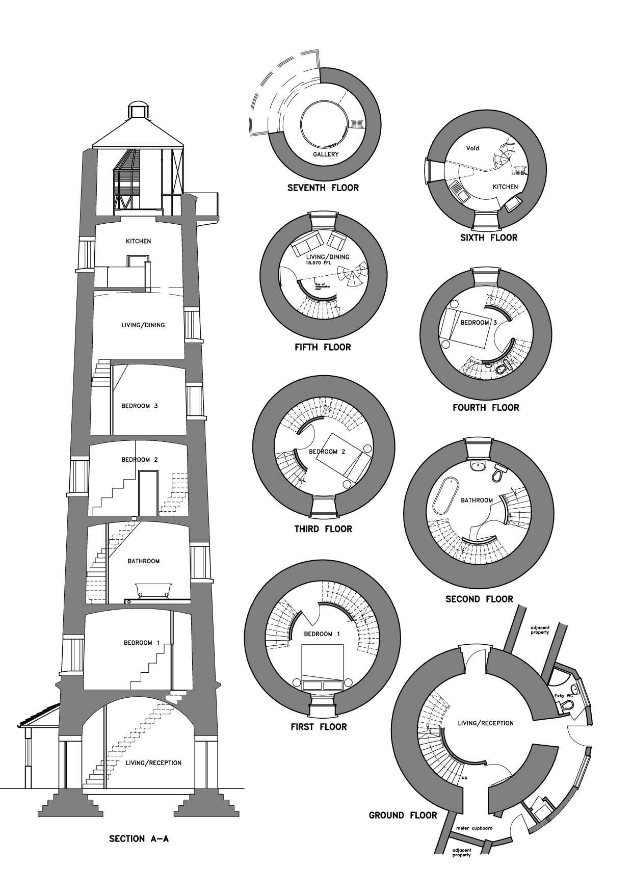 Loftylovin burnham on sea lighthouse Lighthouse home floor plans