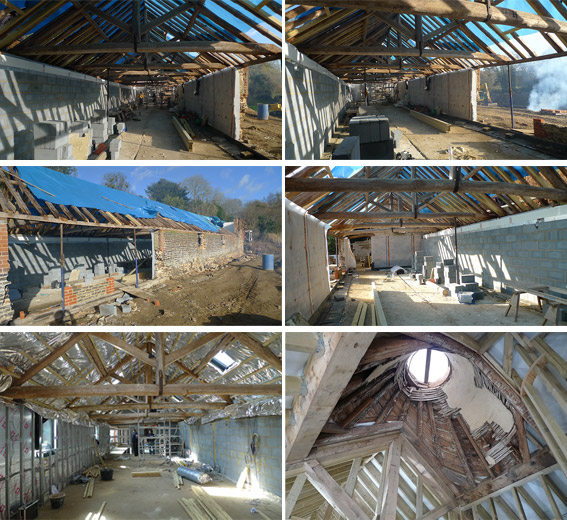Elspeth Beard Architects - Malt House - construction stages